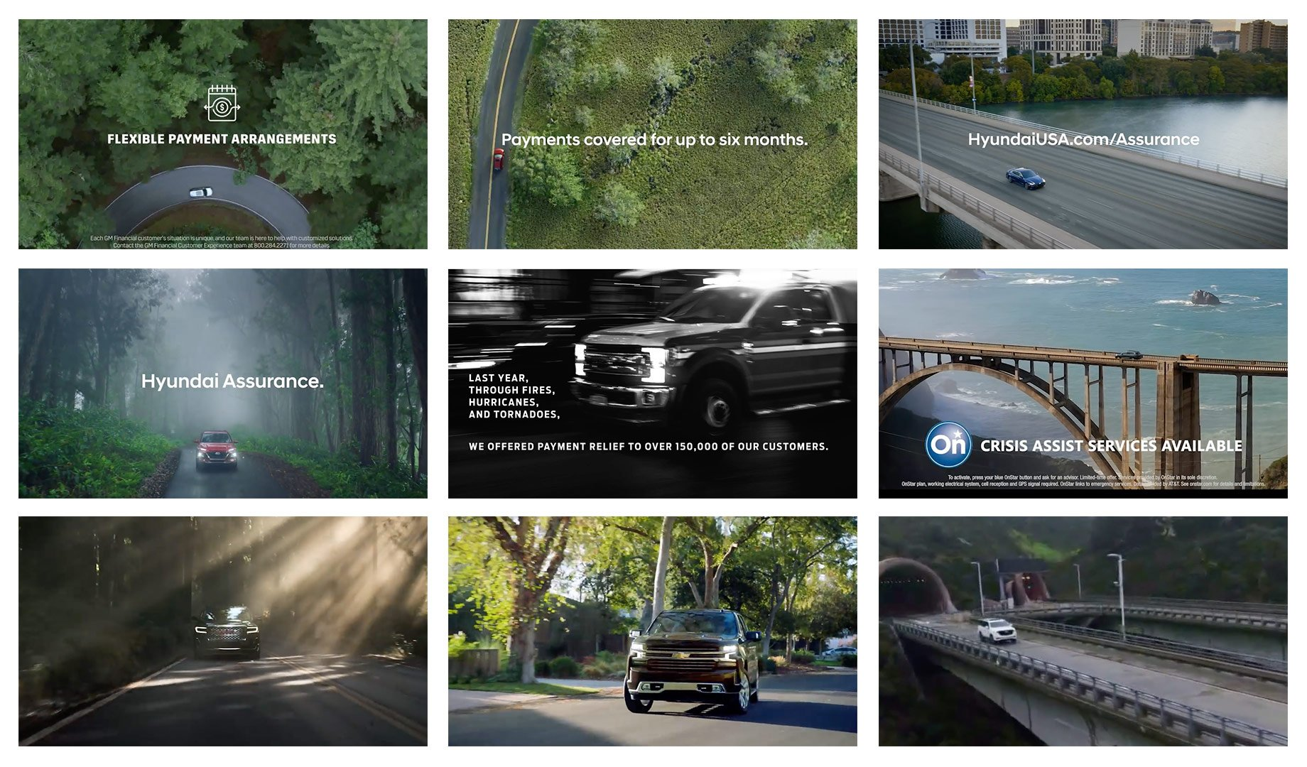 Ford stands out amongst similar auto ads